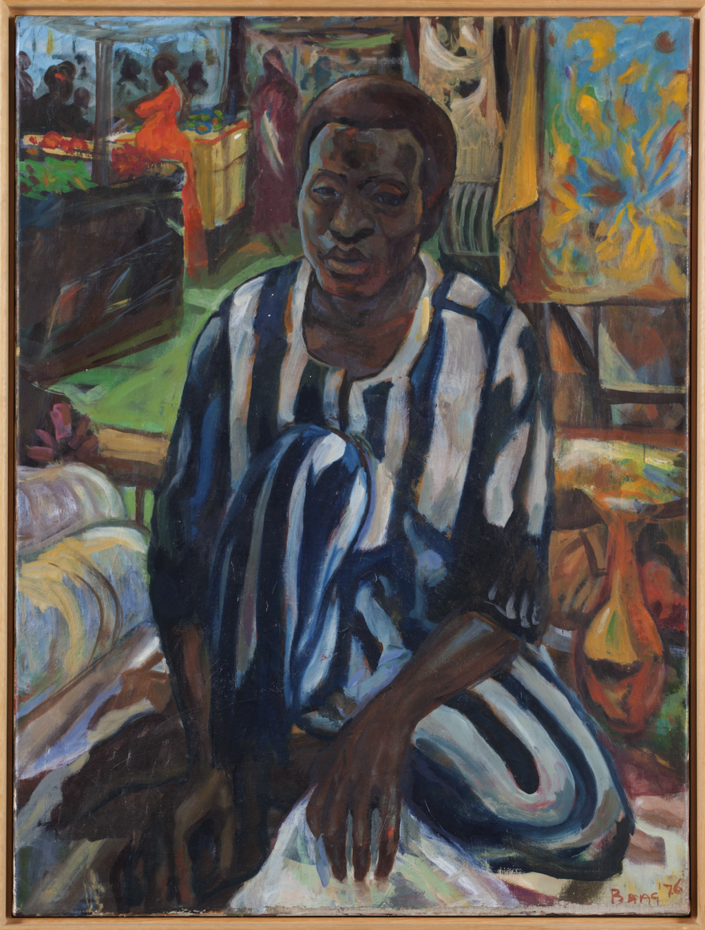 Armand Baag, The fabric dealer, 1980, oil on canvas. Collectie Stedelijk Museum Amsterdam