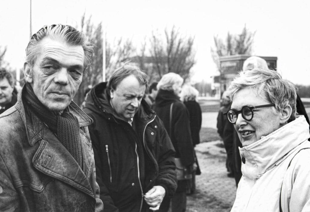 Rini Dippel met Daan van Golden en Wim Beeren, foto Martijn van Nieuwenhuyzen