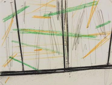 Zonder titel (Het venster), 2003, krijt, houtskool, Stedelijk Museum, Amsterdam, verworven 2003