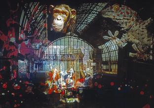Adri Hazevoet, Lichtshow in Paradiso, circa 1970. © Adri Hazevoet