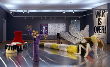 Installation view, Amsterdam, the Magic Center: Art and counter culture 1967-1970, 2018, Stedelijk Museum Amsterdam. Photo: Gert Jan van Rooij