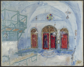 Marc Chagall, 'Interior of a Synagogue, Safad, Palestine, today Safed, Israel', 1931. c/o Pictoright Amsterdam / Stedelijk Museum Amsterdam. Restored with the generous support of the participants of the BankGiro Loterij
