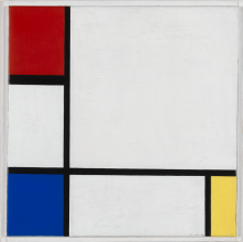 Piet Mondrian, Composition no. IV, collection Stedelijk Museum Amsterdam