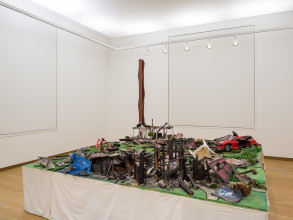 Thomas Hirschhorn, Neighbours (2002), Mixed media. Acquired in 2006. Collection Stedelijk Museum Amsterdam. Photo: Peter Tijhuis