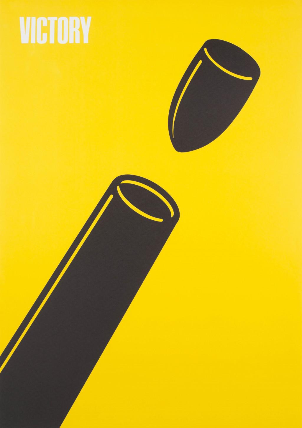 Shigeo Fukuda, 'Victory 1945', 1976. Collection Stedelijk Museum Amsterdam