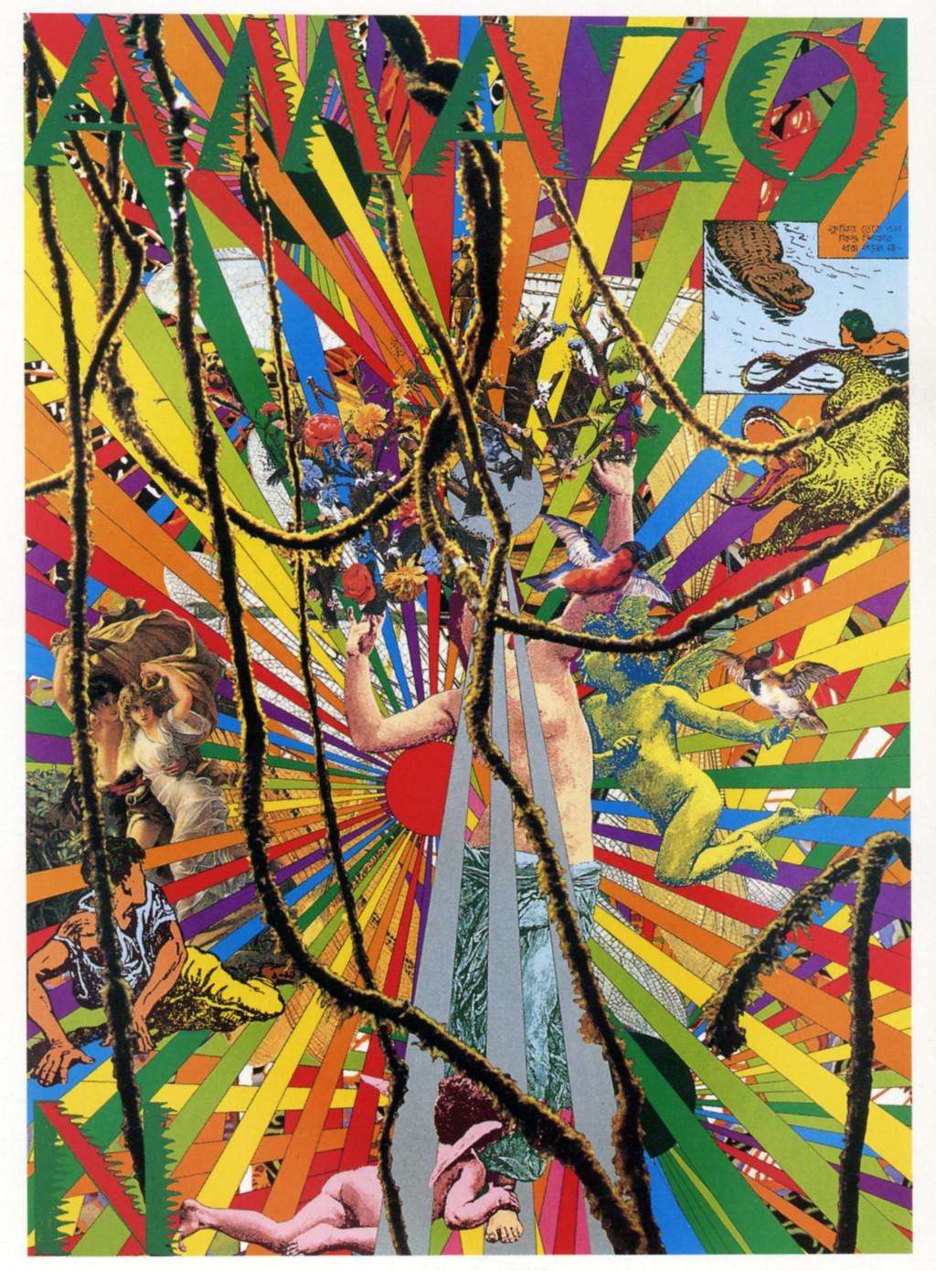 Tadanori Yokoo, 'Amazo', 1989. Collectie Stedelijk Museum Amsterdam