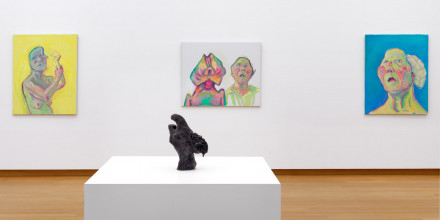 Installation view 'Maria Lassnig – Ways of Being', 2019, Stedelijk Museum Amsterdam. Photo: Gert Jan van Rooij