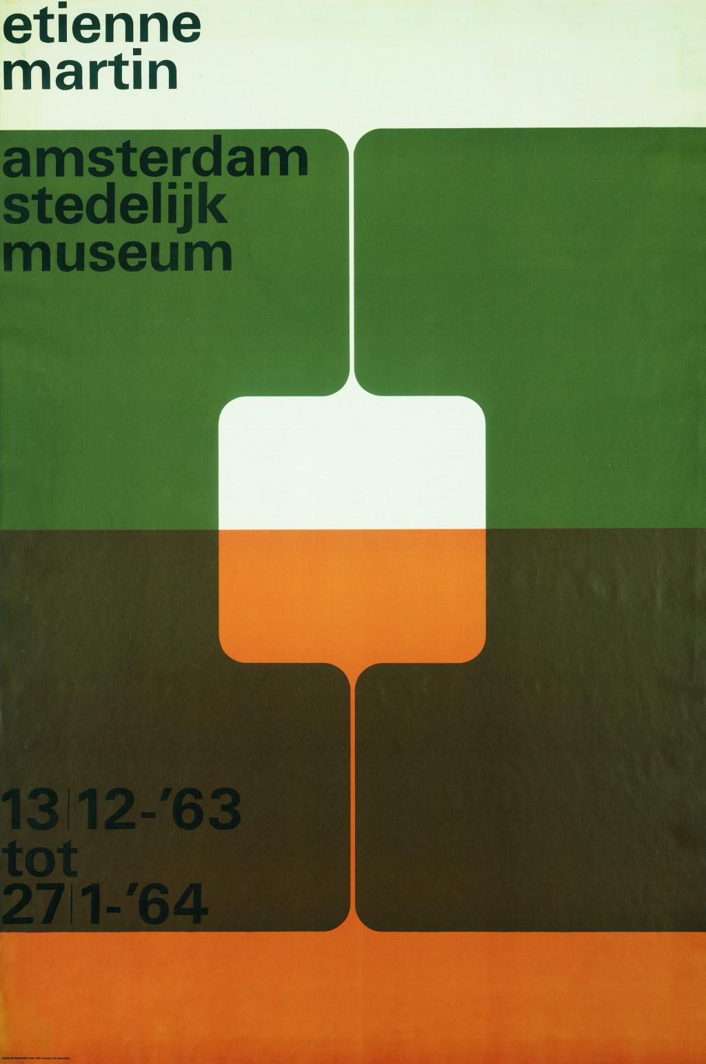 Wim Crouwel, affiche Etienne Martin, 1963. Collectie Stedelijk Museum Amsterdam