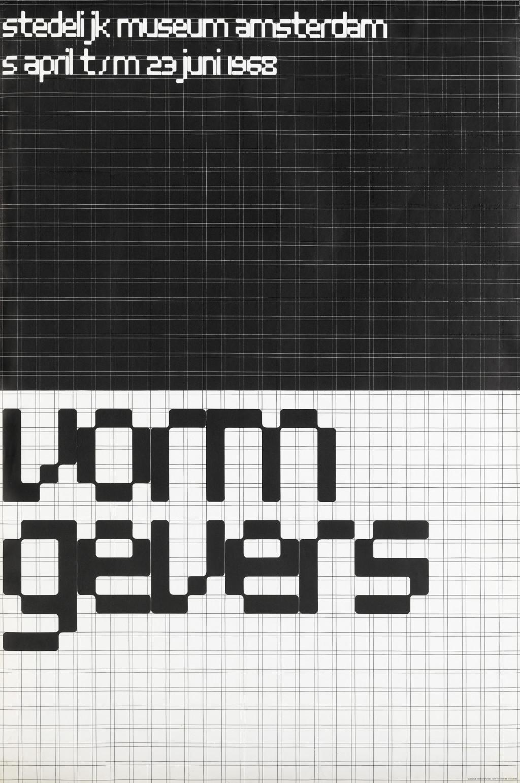 Wim Crouwel, affiche Vormgevers, 1968. Collectie Stedelijk Museum Amsterdam