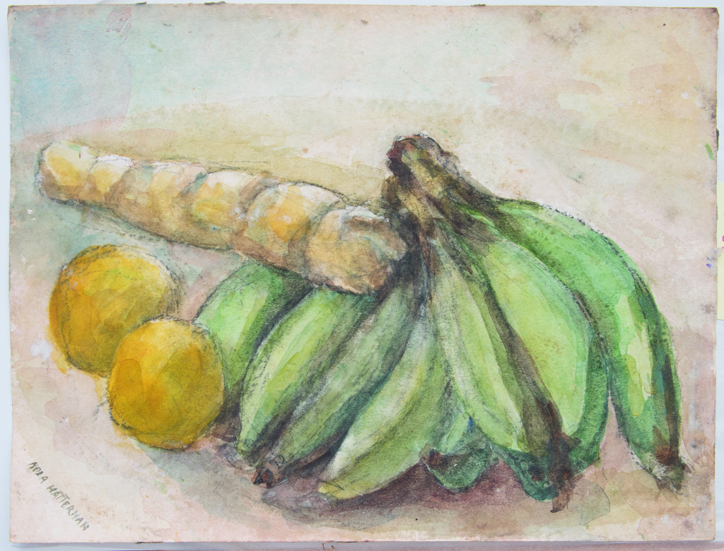 Nola Hatterman, still life, without name or year, watercolor.