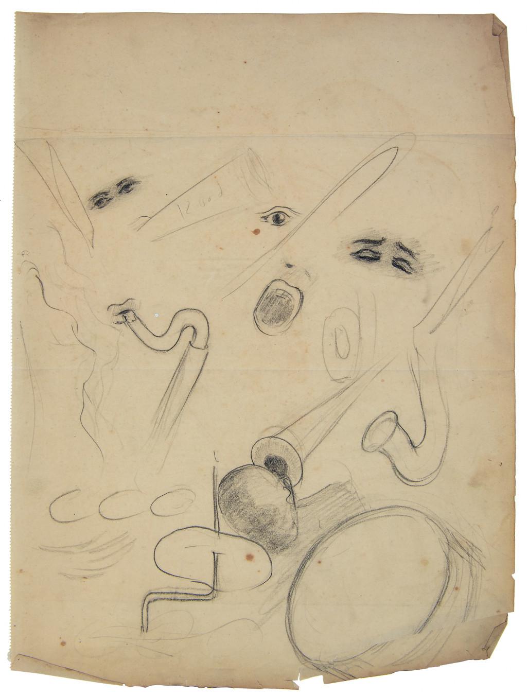 Nola Hatterman, sketch of Jazz, ca. 1934.