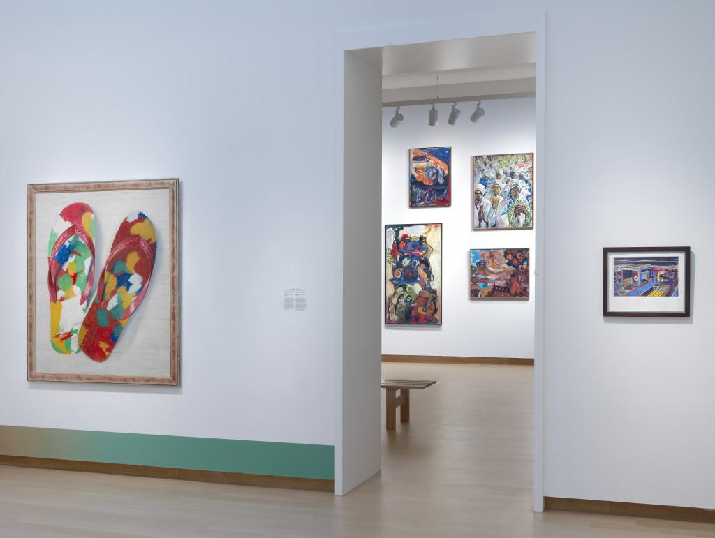 Zaalopname Surinaamse School: Schilderkunst van Paramaribo tot Amsterdam, Stedelijk Museum Amsterdam. Foto: Gert Jan van Rooij