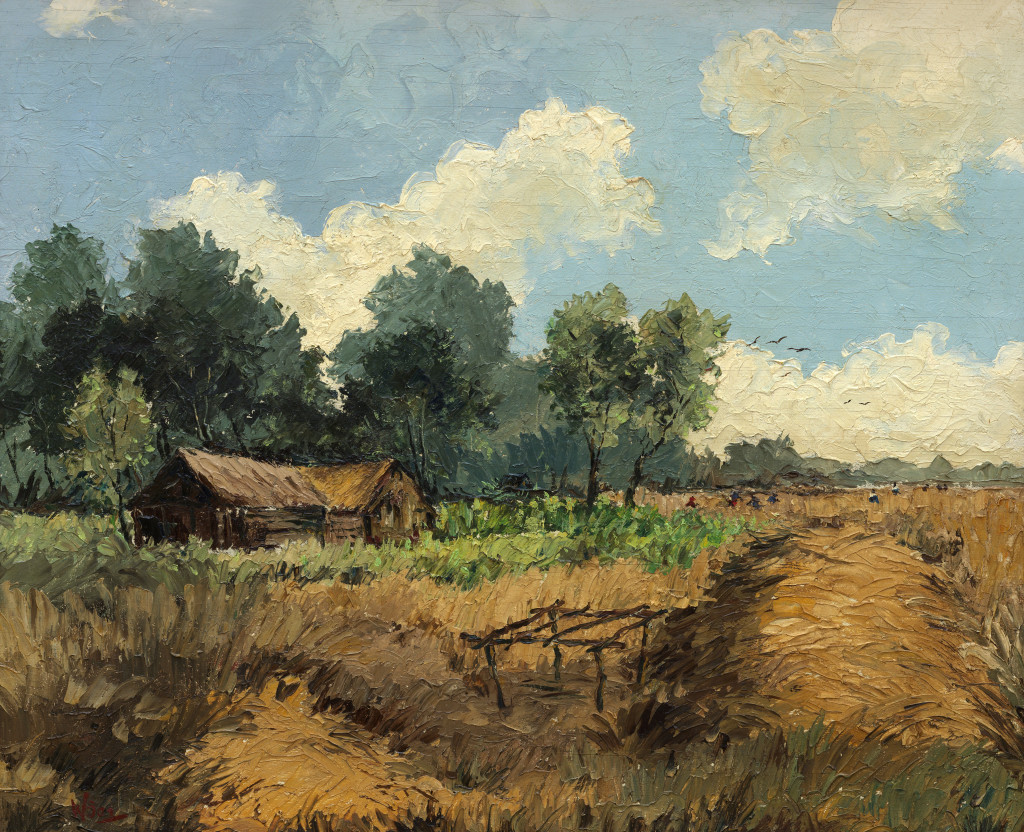 Wim Bos Verschuur, 'Rice Wittie Boitie, The Good Expectation', date unknown, oil on canvas. Kenneth E. Beeker (b'ker), Amsterdam