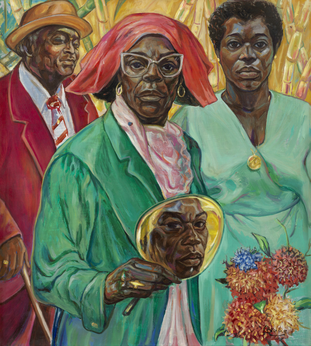 Armand Baag, 'Baag Familiy Portrait', 1989, oil on canvas. Collection Joyce, Sura and Surina Baag, Amsterdam