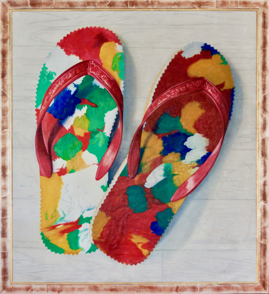Jules Chin A Foeng, 'Chinese Flip-Flops', 1980-1983, oil on canvas. Collection Patrick Chin A Foeng