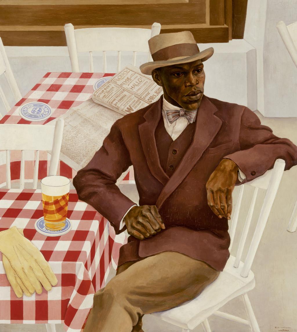 Nola Hatterman, 'Louis Richard Drenthe / Op het terras', 1930, olieverf op doek. Collectie Stedelijk Museum Amsterdam