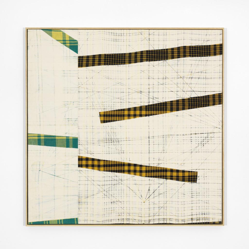 Remy Jungerman, Pimba AGIDA MADAFO III, katoen, kaolien (pimba) op houten paneel (multiplex) 82 x 82 cm, 2021. Courtesy van de kunstenaar en Galerie Ron Mandos. Fotografie Aatjan Renders