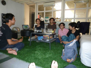 Livingroom and workspace of Tita & Irwan