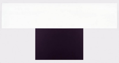 Ellsworth Kelly, Zwarte met witte baan II, 1971