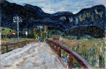 Wassily Kandinsky, Kochel – The Bridge, (Kochel – Die Brücke) 1902, oil on canvas, 30 x 45 cm, Stedelijk Museum, Amsterdam