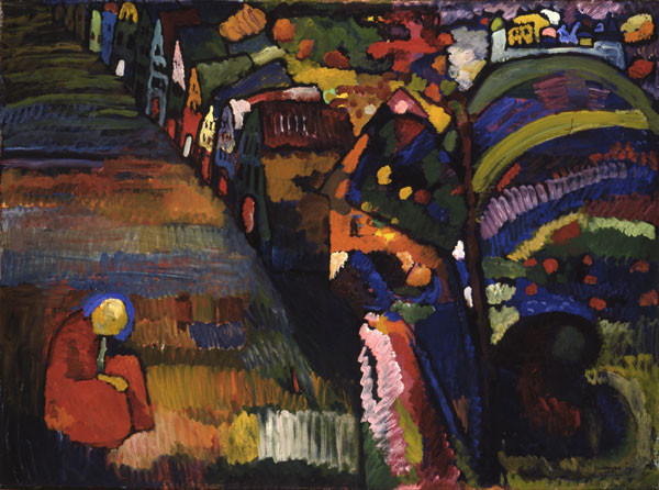 Wassily Kandinsky, Painting with Houses (Bild mit Häusern), 1909, oil on canvas, 98 x 133 cm, Stedelijk Museum Amsterdam