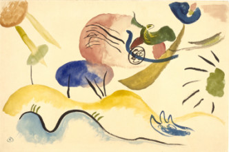 Wassily Kandinsky, Watercolor No. 2 (Aquarell No. 2), 1911-1912, watercolor, gouache, and pencil on paper, 31,6 x 47,6 cm, Stedelijk Museum, Amsterdam