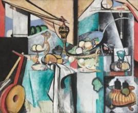 Henri Matisse, Stilleven naar Het dessert van Jan Davidsz. de Heem, 1915, olieverf op doek, 181 x 221 cm, The Museum of Modern Art, New York, schenking en legaat van Florene M. Schoenborn en Samuel Marx