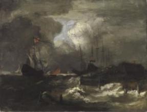 Henri Matisse, Storm bij een dijk in Holland (naar Ruisdael), 1894, olieverf op doek, 55 x 73 cm, particuliere collectie.