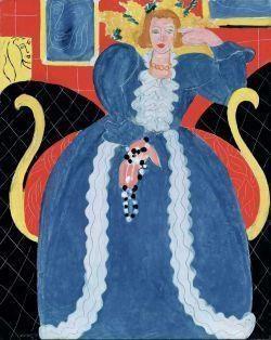 Henri Matisse, Femme en blue / Vrouw in het blauw, 1937 olieverf op doek 92,7 x 73,7 cm Philadelphia Museum of Art: Schenking Mrs. John Wintersteen, 1956 © Succession H. Matisse, c/o Pictoright Amsterdam 2014