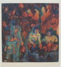 K. Malevich, Fruitplukken/Overvloed, 1909 inv. nr. 4.2001 (172). Gouache en potlood op papier.