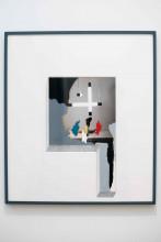 Ger van Elk, Riet-Fruit-Veld, 1988, lakverf en vernis op chromogene kleurendruk, potlood op papier, 81,5 x 71,5 x 3 cm (incl. lijst), schenking Mr. J.M. Boll, ter gelegenheid van het afscheid van Bart Rutten als Hoofd Collecties van het Stedelijk Museum