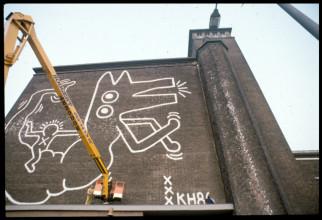 7daf39da9af47 Mural depot Centrale Markthallen. Stedelijk Museum Amsterdam Archive. © Keith  Haring Foundation