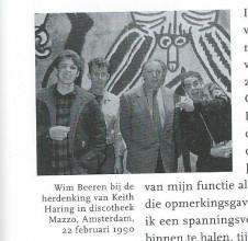 "92b05cb6bbda9 Wim Beeren at the In Memoriam for Keith Haring in the Mazzo. © Patricia  Steur. """