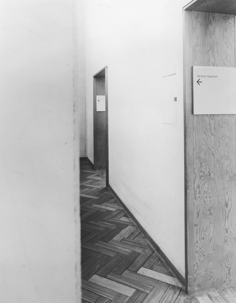 Bruce Nauman, installation 'Wind Room', exhibition 'Lucht-Kunst', Stedelijk Museum 1970.