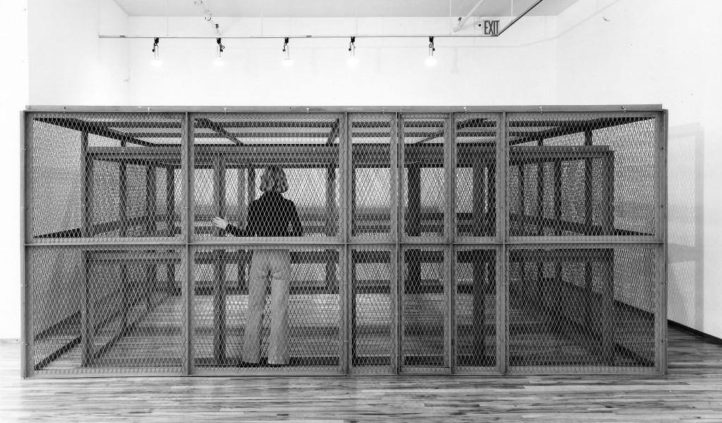 Bruce Nauman, 'Double Steel Cage Piece', 1974. Collection Museum Boijmans Van Beuningen, Rotterdam. © 2021 Bruce Nauman / Artists Right Society (ARS), Courtesy Sperone Westwater, New York.