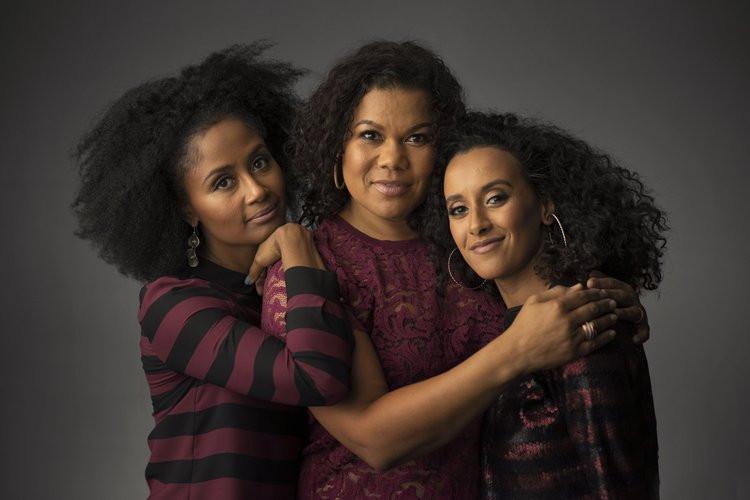 De makers van Dipsaus: Ebissé Rouw, Anousha Nzume en Mariam El Maslouhi