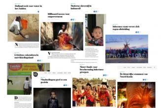 Koppen met neokoloniale woorden (bron: OneWorld)