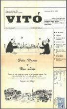 Cover 'Vitó', jaargang II, no. 8. Destijds verstuurd door Stanley Brown vanuit Curaçao naar de Provo's. Collectie Rijksmuseum Amsterdam. Uitgevers-Stichting Vitó.