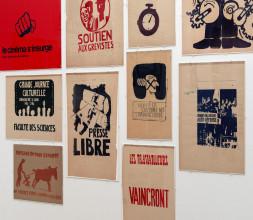 [ill. hier kunnen enkele Parijse Mei68-affiches worden getoond uit de tentoonstelling, bv Cinema s'insurge & La lutte continue]