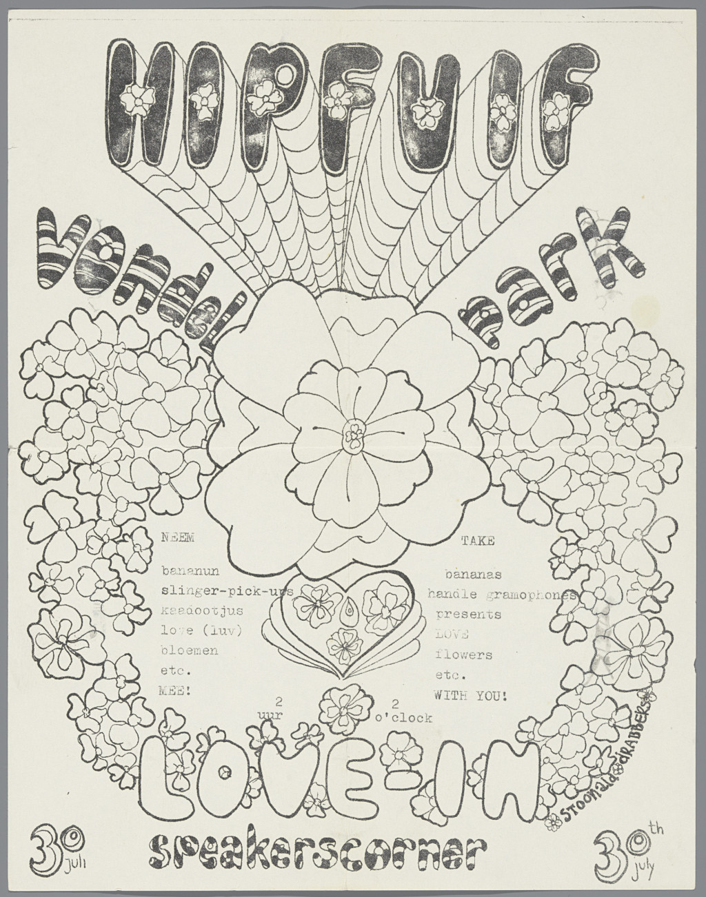 Love beasters, Love-in, hippie-happy, 1967. Collection Rijksmuseum, Amsterdam