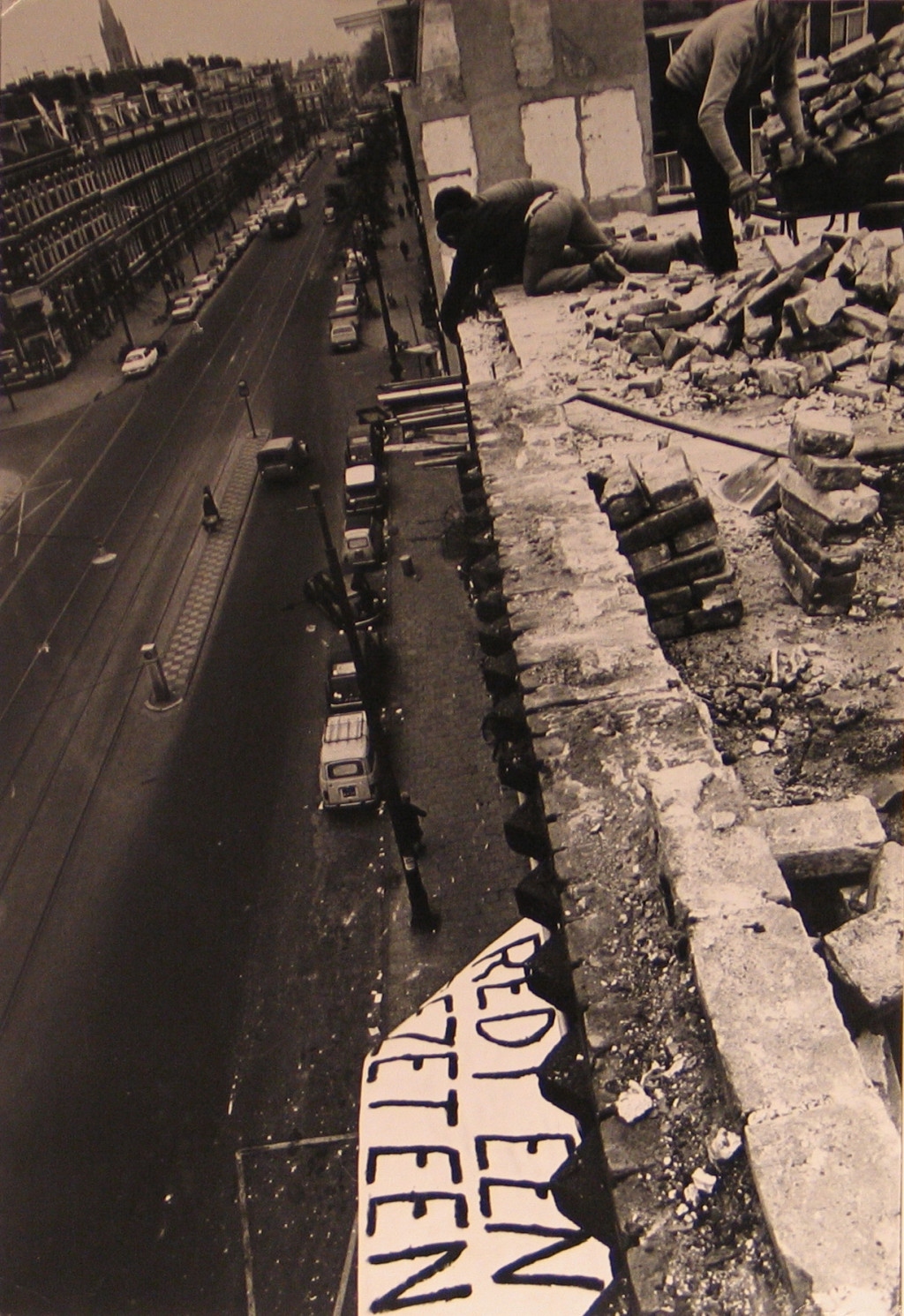 Pieter Boersma, Wijttenbachstraat demolition, October 1969. Collection Stedelijk Museum Amsterdam