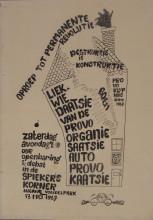 Rob Stolk, Liquidation of the Provo organization, 1967. Collection Stedelijk Museum Amsterdam
