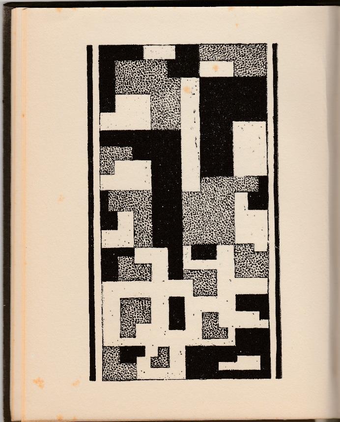 Chris Beekman, Abstracte pagina uit de Gast-vertellers (1924). Stedelijk Museum, Amsterdam.