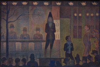 George Seurat, 'Parade de Cirque', 1887/1888. Metropolitan Museum, New York.