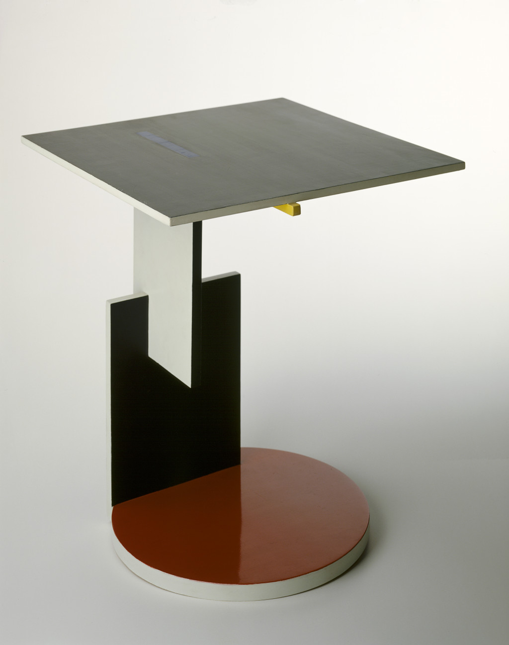 Fig. 7 Gerrit Rietveld, End Table, 1923, painted beech wood and birch plywood (multiply), 61.5 x 49.5 x 50.5 cm. purchased from the designer in 1951 for the 'De Stijl' exhibition