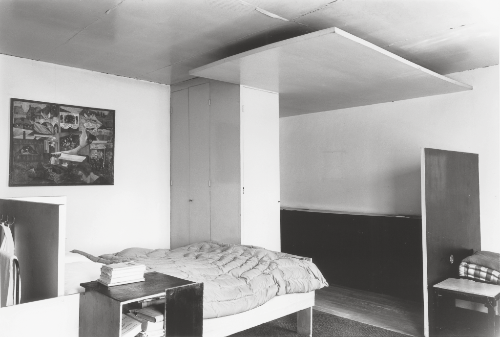 Fig. 9: Gerrit Rietveld, Partly designed in collaboration with Truus SchröderSchräder, Harrenstein Bedroom, 1926, various materials, 303 x 508 x 591 cm, commissioned by Dr. R.J. Harrenstein and his wife, An Harrenstein-Schräder