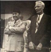 Sukarno and Rudolf Bonnet at Tampaksiring Palace