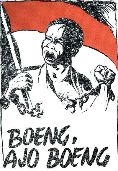 The poster Boeng, Ajo Boeng (Photo: Dullah, Raja Realisme Indonesia)