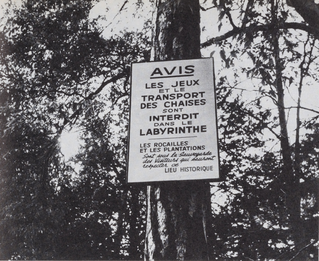"""Photograph taken by Jacqueline de Jong in the Jardin des Plantes, Paris. Included in """"The Situationist Times"""" 4."""