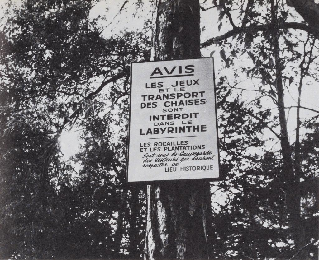 Foto gemaakt door Jacqueline de Jong in de Jardin des Plantes, Parijs. Afgedrukt in 'The Situationist Times' 4.